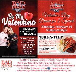 Be My Valentine / Valentine's Day Dinner for 2 Special