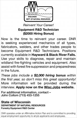 Equipment R&D Technician