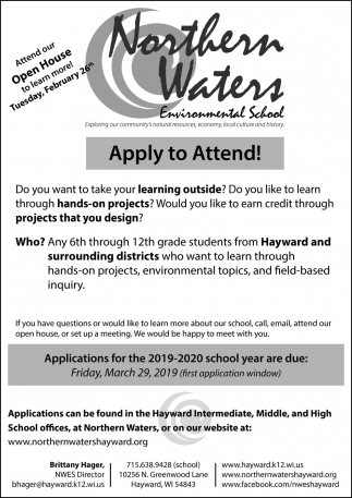 Applications for the 2018 - 2019 school year