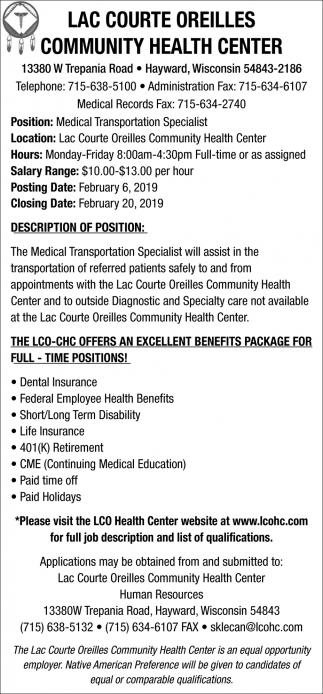 Medical Transportation Specialist