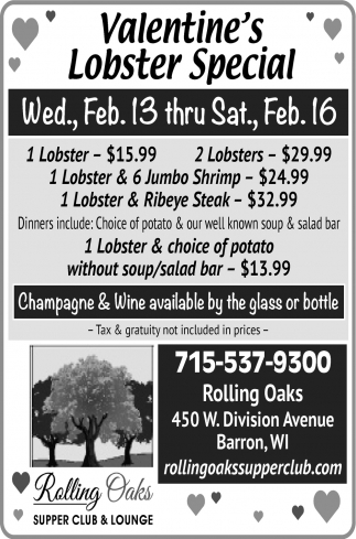 Valentine's Lobster Special