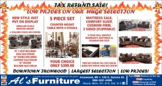 Tax Refund Sale!