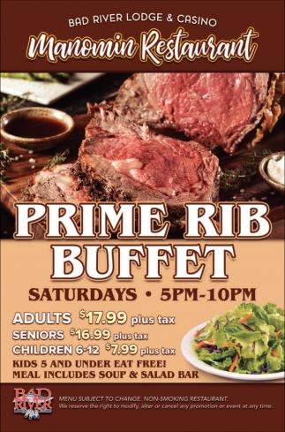 Manomin Prime Rib Buffet