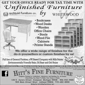Unfinished Furniture by Whitewood
