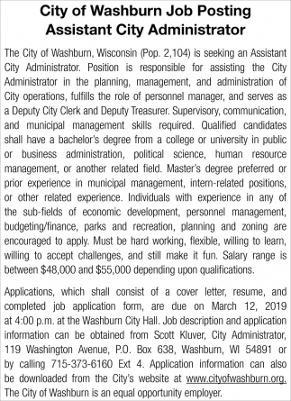 Assistant City Administrator