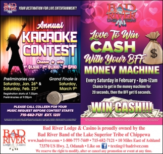 Annual Karaoke Contest / Money Machine