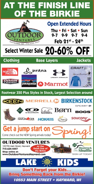 size 40 cbf8f e8cff Select Winter Sale 20-60% off, Outdoor Ventures, Hayward, WI