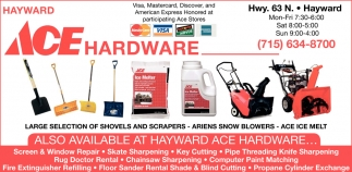 Shovels and Scrapers, Ariens Snowblowers, Ace Ice Melt