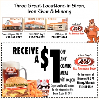 $1 off any combo meal