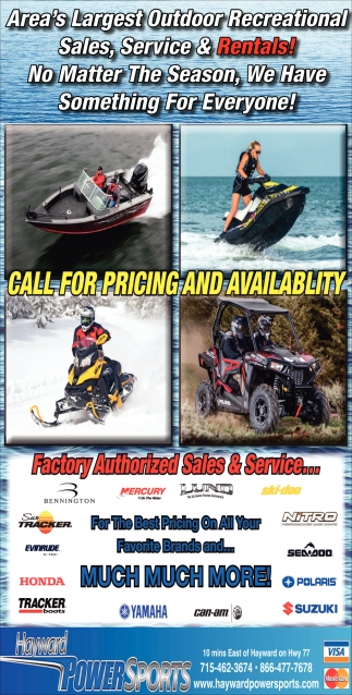 Area's Largest Outdoor Recreational Sales, Service & Rentals!