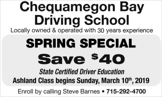 Spring Special - Save $40