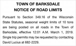 Notice of Road Limits f8c7fe724