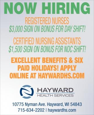 Registered Nurses, Certified Nursing Assistants