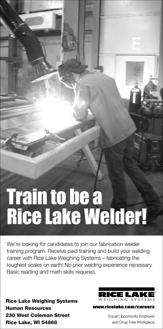 Train to be a Rice Lake Welder!