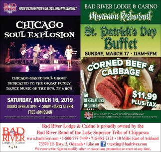 Chicago Soul Explosion / St. Patrick's Day Buffet