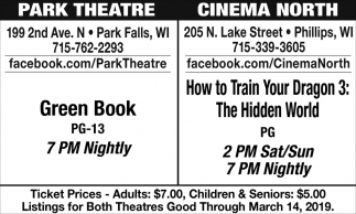 Green Book / How to Train Your Dragon 3