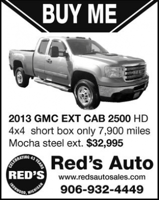 2013 GMC EXT CAB 2500 HD