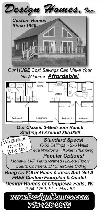 Custom Homes Since 1966, Design Homes, Inc, Chippewa Falls, WI