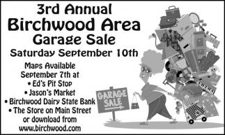 3rd Annual Birchwood Area Garage Sale
