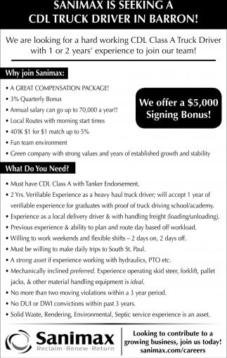 truck driver salary mn