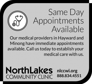Same Day Appointments Available