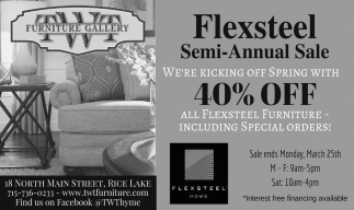 Flexsteel Semi-Annual Sale 40% off