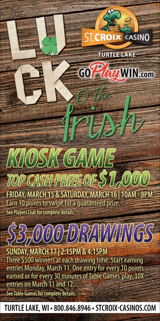 Luck of The Irish Kiosk Game