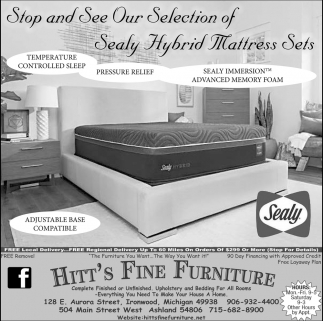 Selection of Sealy Hybrid Mattress Set