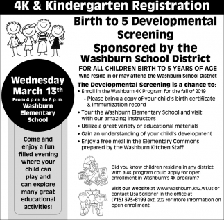 4K & Kindergarten Registration