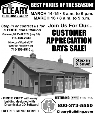 Customer Appreciation Days Sale