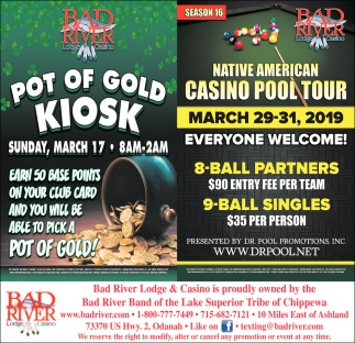 Pot of Gold Kiosk / Native American Casino Pool Tour