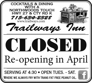 Re-opening in April