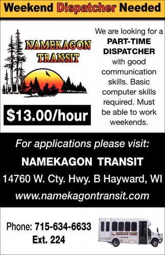 Weekend Dispatcher