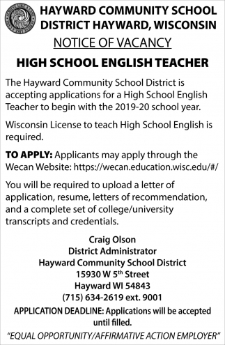 High School English Teacher