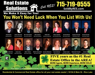 You Won't Need Luck When You List With Us!
