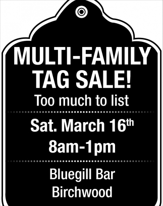 Multi-Family Tag Sale!
