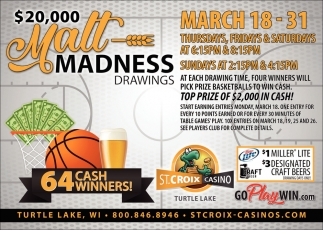 $20,000 Mall Madness Drawings