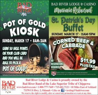 Pot of Gold Kiosk / St. Patricks Day Buffet