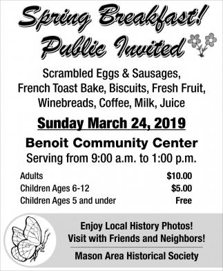 Spring Breakfast Public Invited