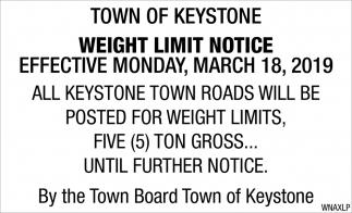 Weight Limit Notice