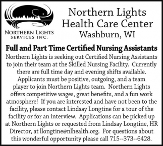 Full and Part Time Certified Nursing Assistants