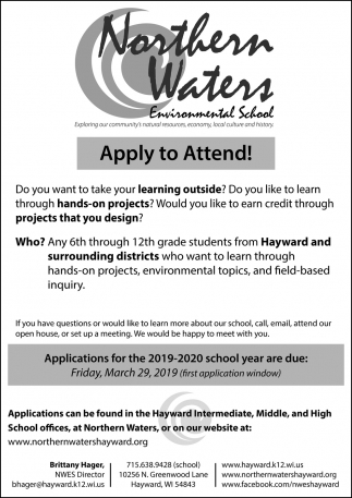 Applications for the 2019 - 2020 school year
