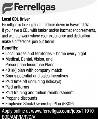 Local CDL Driver