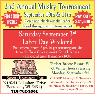 2nd Annual Musky Tournament