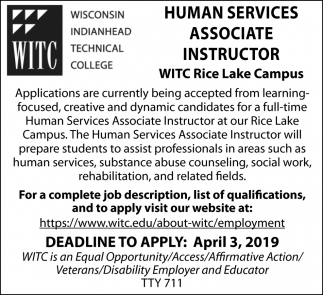 Human Services Associate Instructor