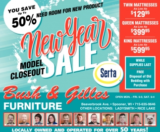 New Year Model Closeout Sale