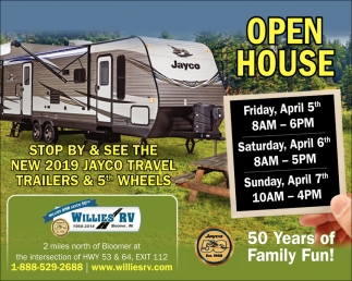 Stop by & see the new 2019 Jayco Travel Trailers & 5th wheels