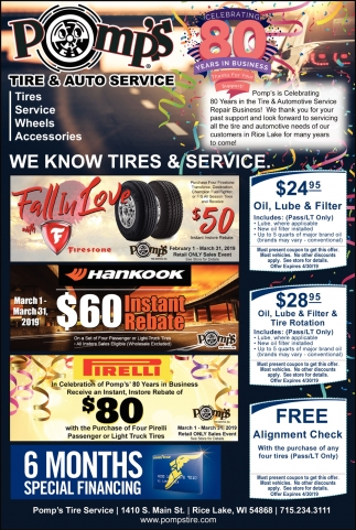 We know tires & service