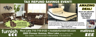 Tax Refund Savings Event!
