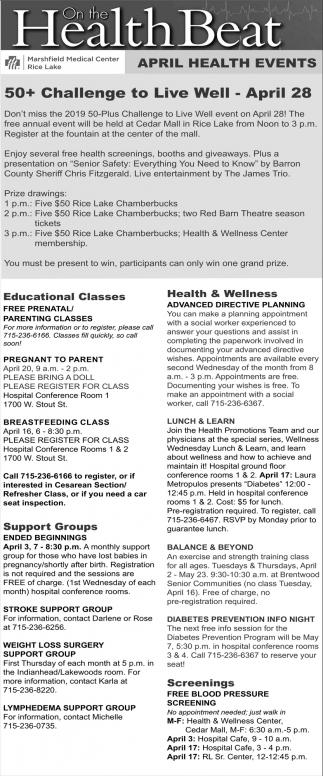 April Health Events